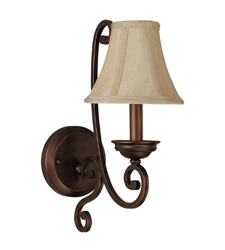 Capital Lighting Cumberland 1 Light Sconce in Burnished Bronze 1771BB-413 photo