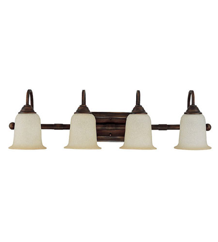 Capital Lighting Signature 4 Light Vanity in Burnished Bronze with Mist Scavo Glass 1794BB-293 photo