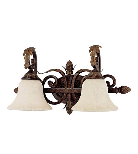 Capital Lighting Amberleigh 2 Light Vanity in Chesterfield Brown with Rust Scavo Glass 1822CB-285 photo