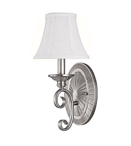 Capital Lighting Hammond 1 Light Sconce in Matte Nickel 1842MN-435 photo