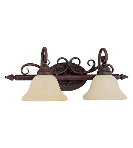 Capital Lighting Hammond 2 Light Vanity in Mediterranean Bronze with Mist Scavo Glass 1852MBZ-257 photo