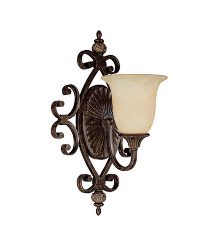 Capital Lighting Manchester 1 Light Sconce in Chesterfield Brown with Rust Scavo Glass 1878CB-294 photo