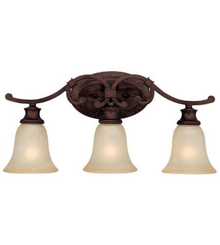 Capital Lighting Hill House 3 Light Vanity in Burnished Bronze with Mist Scavo Glass 1883BB-252 photo