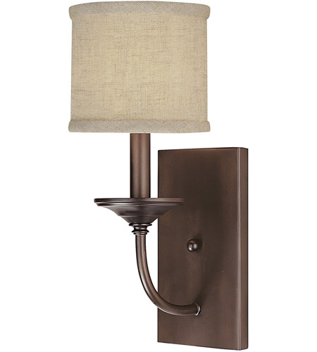Capital Lighting Loft 1 Light Sconce in Burnished Bronze 1981BB-468 photo