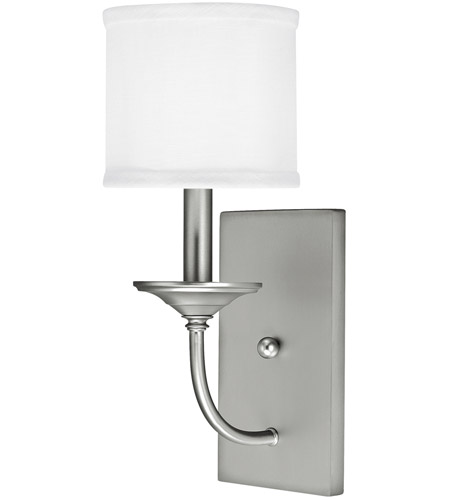 Capital Lighting 1981MN-469 Loft 1 Light 7 inch Matte Nickel Sconce Wall Light in White Fabric Shade photo