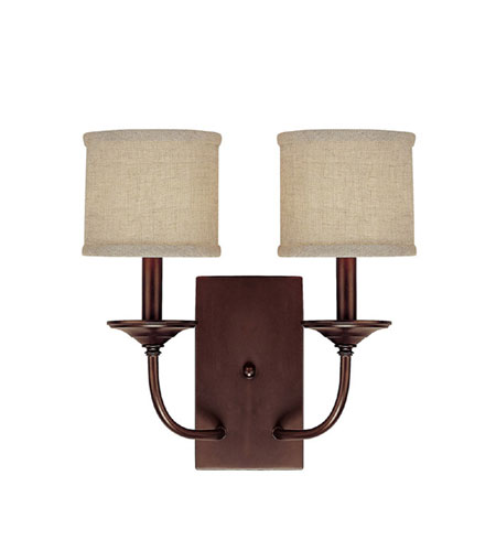 Capital Lighting Loft 2 Light Sconce in Burnished Bronze 1982BB-468 photo