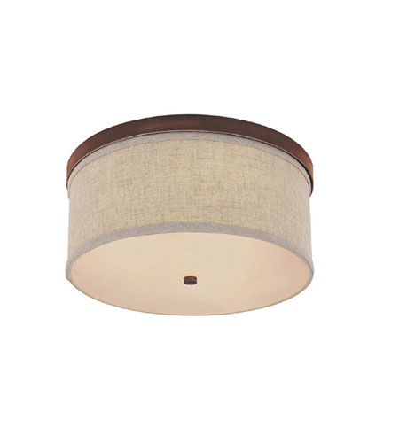 Capital Lighting Midtown 2 Light Flush Mount in Burnished Bronze with Frosted Diffuser Glass 2015BB photo