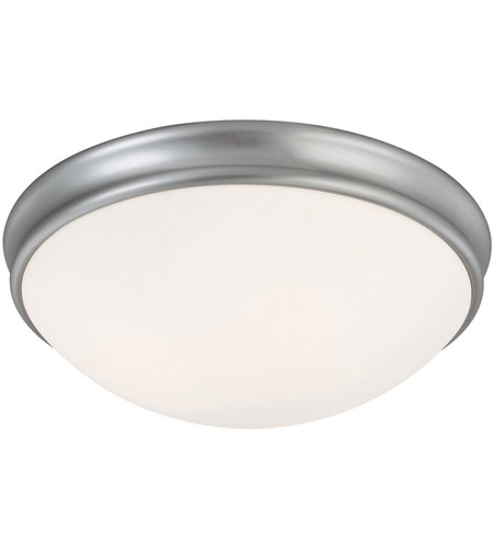 Capital Lighting Signature 3 Light Flush Mount in Matte Nickel with White Glass 2034MN photo