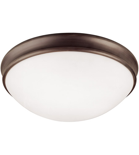 Capital Lighting 2034OR Signature 3 Light 14 inch Oil Rubbed Bronze Flush Mount Ceiling Light photo
