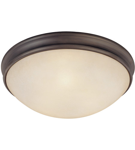 Capital Lighting Signature 3 Light Flush Mount in Oil Rubbed Bronze with Mist Scavo Glass 2044OR photo