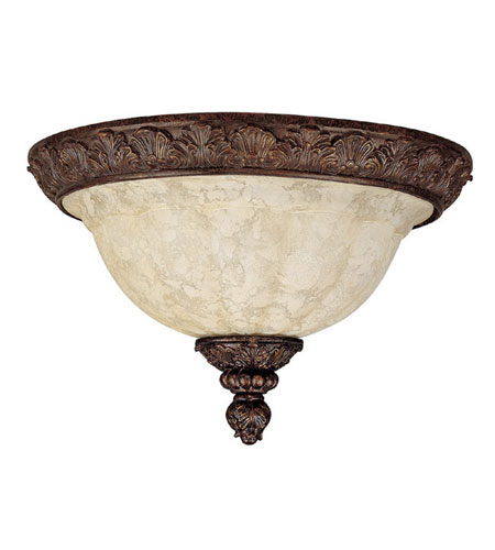 Capital Lighting Monarch 3 Light Flush Mount in Gilded Bronze with Rust Scavo Glass 2143GB photo