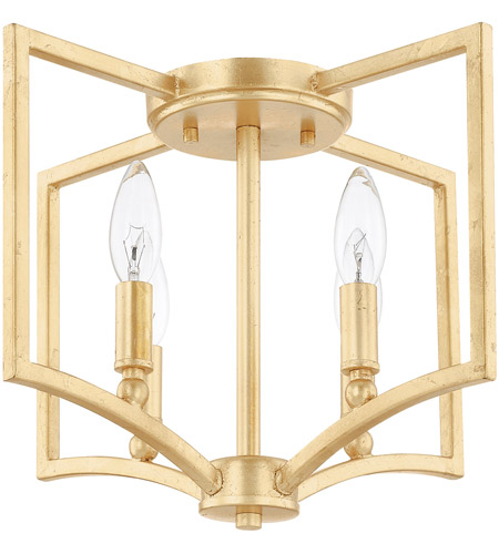 Capital Lighting 219441cg Regan 4 Light 15 Inch Gold Flush Mount Ceiling Photo