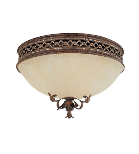 Capital Lighting Grandview 2 Light Flush Mount in Dark Spice with Rust Scavo Glass 2263DS photo