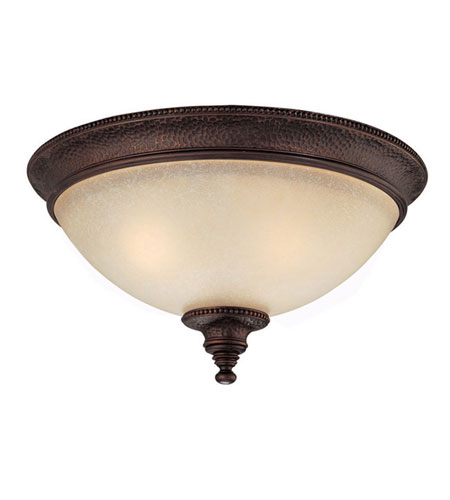 Capital Lighting Hill House 3 Light Flush Mount in Burnished Bronze with Mist Scavo Glass 2275BB photo