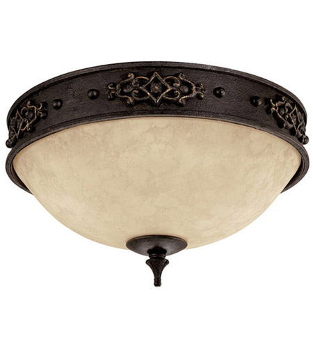 Capital Lighting 2283RI River Crest 2 Light 13 inch Rustic Iron Flush Mount Ceiling Light photo