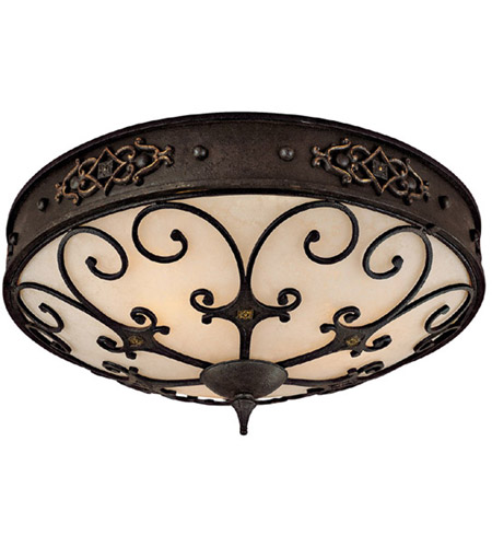 Capital Lighting 2287RI River Crest 3 Light 24 inch Rustic Iron Flush Mount Ceiling Light photo