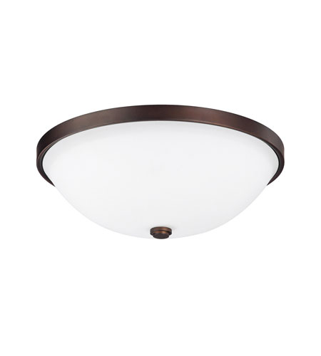 Capital Lighting Covington 2 Light Flush Mount in Burnished Bronze with Soft White Glass 2323BB photo
