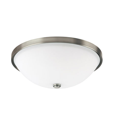 Capital Lighting Covington 3 Light Flush Mount in Antique Nickel with Soft White Glass 2325AN photo