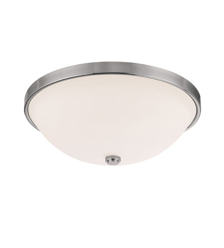 Capital Lighting Signature 3 Light Flush Mount in Polished Nickel with Soft White Glass 2325PN photo