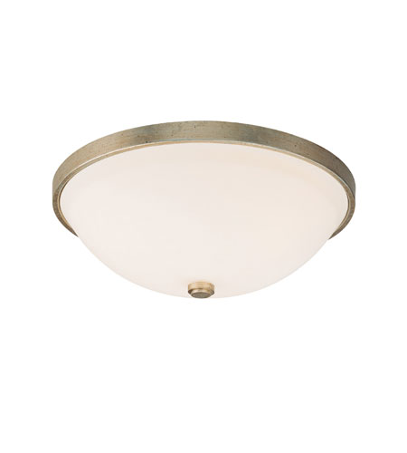 Capital Lighting Signature 3 Light Flush Mount in Winter Gold with Soft White Glass 2325WG photo