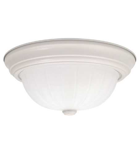 Capital Lighting Signature 3 Light Flush Mount in White 2415MW photo