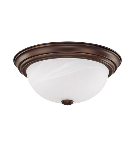 Capital Lighting Signature 2 Light Flush Mount in Burnished Bronze with White Faux Alabaster Glass 2711BB photo