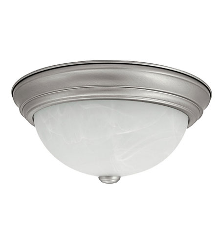 Capital Lighting Signature 2 Light Flush Mount in Matte Nickel with Faux White Alabaster Glass 2711MN photo