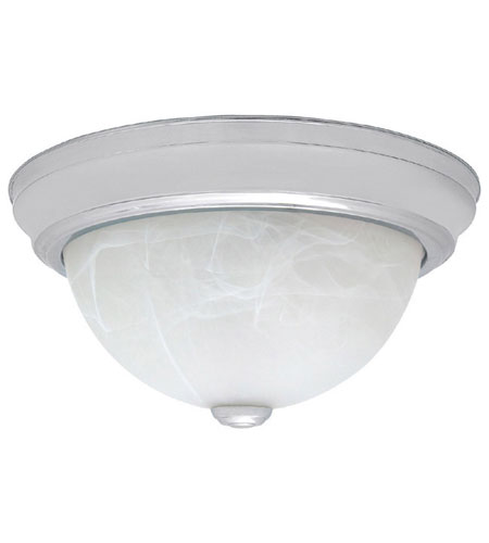 Capital Lighting 2715CH Signature 3 Light 15 inch Chrome Flush Mount Ceiling Light in Incandescent, White Faux Alabaster photo