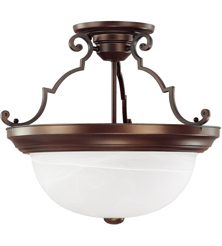 Capital Lighting 2717BB Signature 3 Light 15 inch Burnished Bronze Semi-Flush Mount Ceiling Light photo