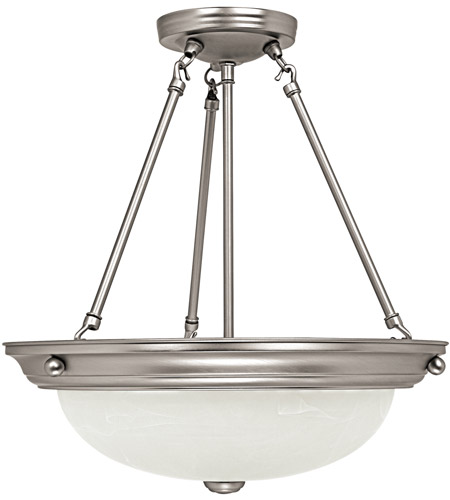 Capital Lighting 2718MN Signature 3 Light 15 inch Matte Nickel Pendant Ceiling Light photo