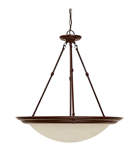 Capital Lighting Signature 3 Light Pendant in Burnished Bronze with Mist Scavo Glass 2724BB photo