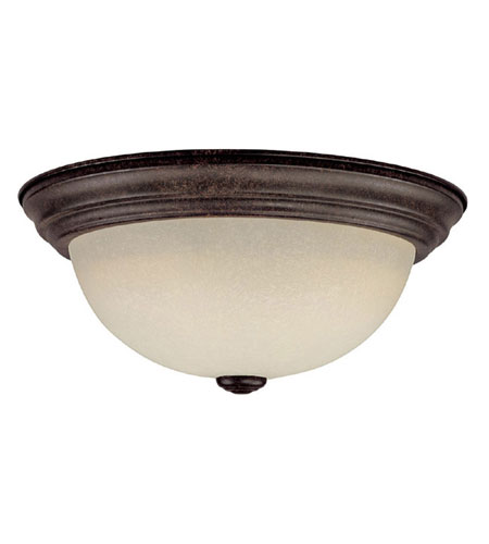 Capital Lighting Signature 3 Light Flush Mount in Tortoise with Mist Scavo Glass 2745TS photo