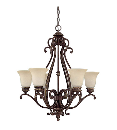 Capital Lighting Chatham 6 Light Chandelier in Weather Brown with Mist Scavo Glass 3016WB-252 photo