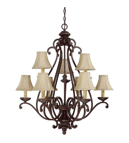 Capital Lighting Chatham 9 Light Chandelier in Weather Brown 3018WB-413 photo