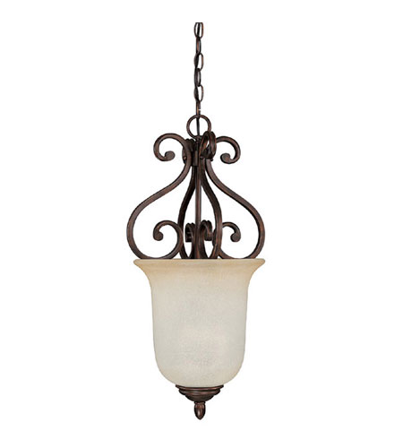 Capital Lighting Cumberland 3 Light Foyer in Burnished Bronze with Mist Scavo Glass 3020BB photo