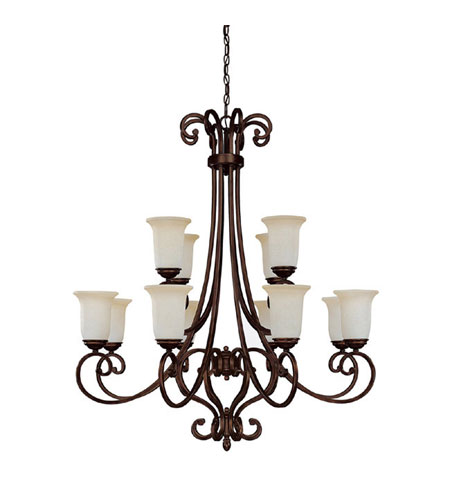 Capital Lighting Cumberland 12 Light Chandelier in Burnished Bronze with Mist Scavo Glass 3022BB-251 photo