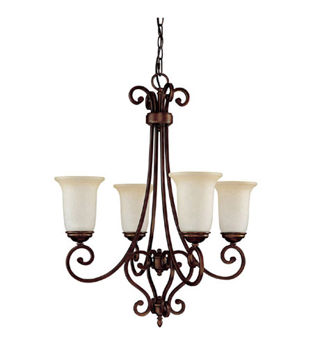 Capital Lighting Cumberland 4 Light Chandelier in Burnished Bronze with Mist Scavo Glass 3024BB-251 photo