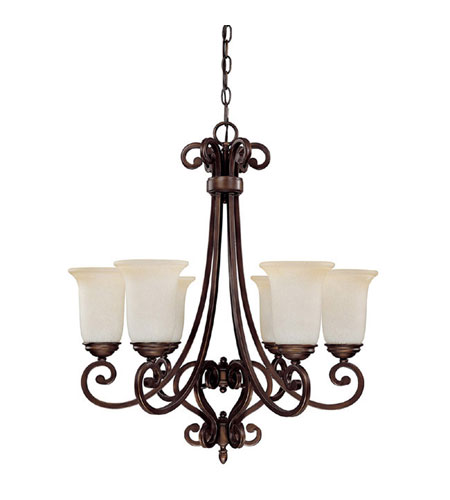 Capital Lighting Cumberland 6 Light Chandelier in Burnished Bronze with Mist Scavo Glass 3026BB-251 photo