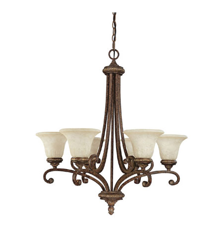 Capital Lighting Carlisle 6 Light Chandelier in Dark Spice with Rust Scavo Glass 3046DS-265 photo