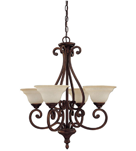 Capital Lighting 3074BB-292 Chandler 4 Light 25 inch Burnished Bronze Chandelier Ceiling Light in Mist Scavo photo