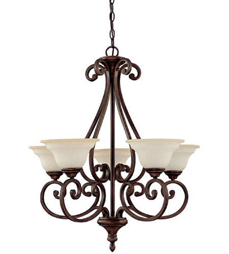 Capital Lighting 3075BB-292 Chandler 5 Light 27 inch Burnished Bronze Chandelier Ceiling Light in Mist Scavo photo