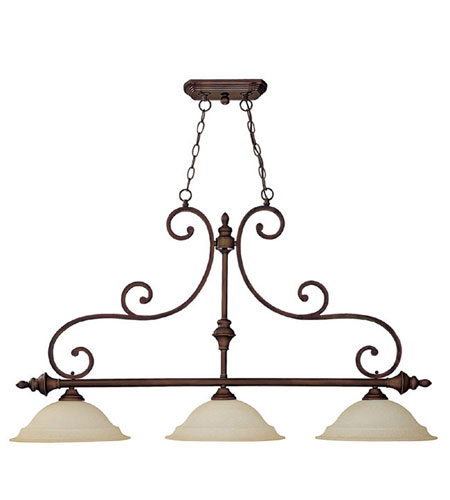 Capital Lighting 3078BB Chandler 3 Light 45 inch Burnished Bronze Island Light Ceiling Light in Mist Scavo photo