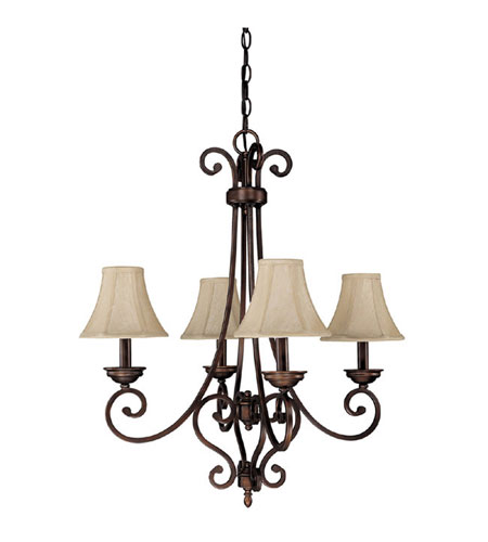 Capital Lighting Cumberland 4 Light Chandelier in Burnished Bronze 3084BB-413 photo