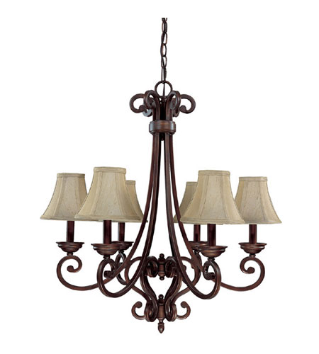 Capital Lighting Cumberland 6 Light Chandelier in Burnished Bronze 3086BB-413 photo
