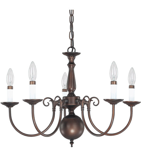 Capital Lighting 3125BB Signature 5 Light 24 inch Burnished Bronze Chandelier Ceiling Light photo