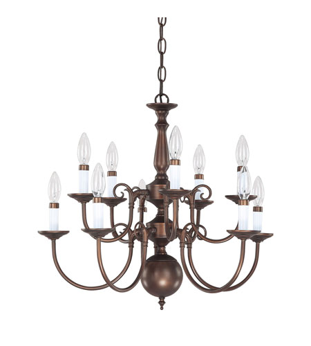 Capital Lighting Signature 10 Light Chandelier in Burnished Bronze 3130BB photo