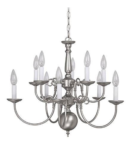 Capital Lighting 3130MN Signature 10 Light 24 inch Matte Nickel Chandelier Ceiling Light photo