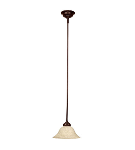 Capital Lighting Signature 1 Light Pendant in Mediterranean Bronze with Rust Scavo Glass 3150MBZ-244 photo