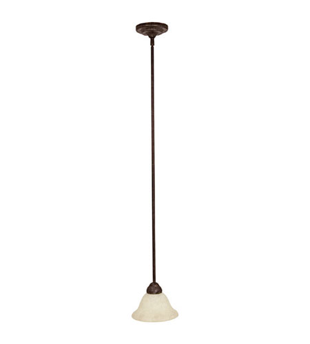 Capital Lighting Signature 1 Light Pendant in Tortoise with Rust Scavo Glass 3150TS-245 photo