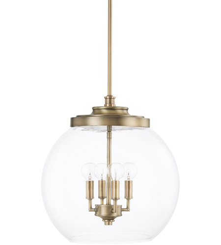 capital lighting 321142ad mid century 4 light 16 inch aged brass